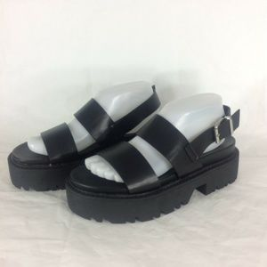 ASOS Foolish Chunky Platform Sandals Double Straps